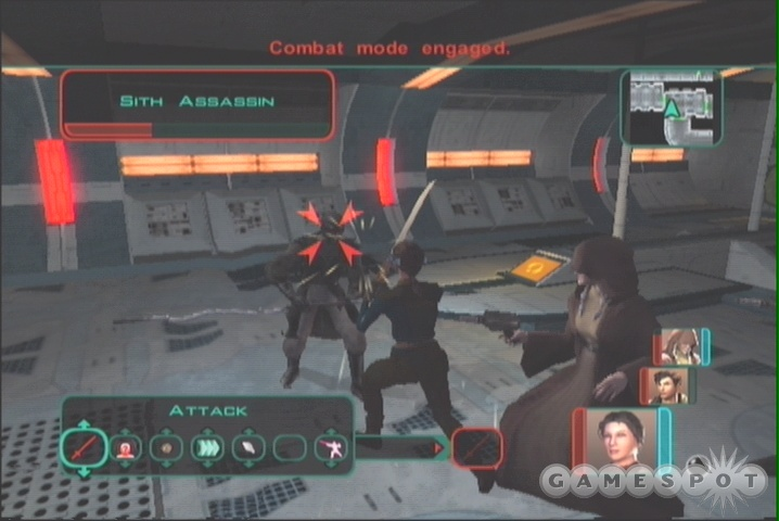 These invisible Sith will pop up throughout the Harbinger, so be on guard.