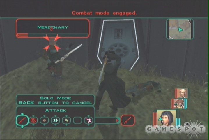 If you're having trouble with the soldiers here, try luring them back to your party with Solo Mode.