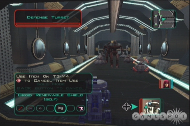T3's Renewable Shield will enable him to wander past all the hostile droids in Solo Mode without taking damage.