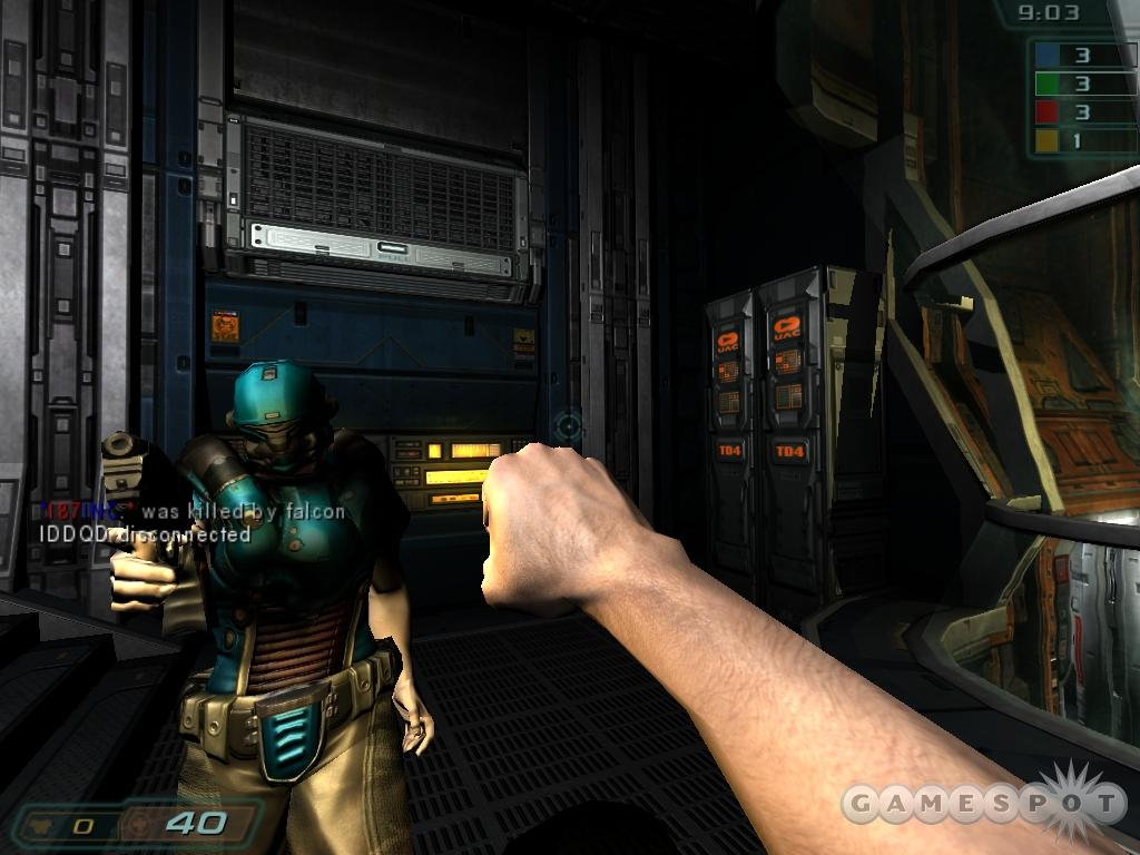 Multiplayer definitely is not the main attraction of Doom 3, though perhaps the game's mod community can fix that in due time.