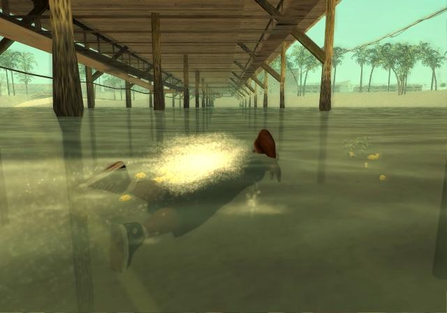 In GTA: San Andreas, water will no longer be a death trap; instead it'll be a viable escape route.