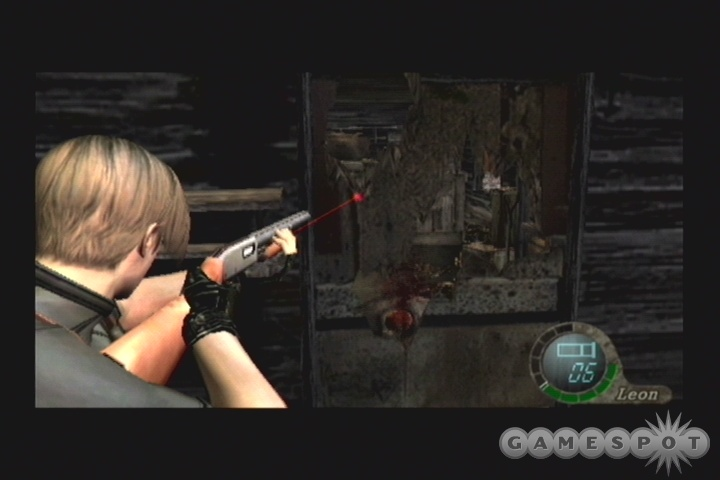 If you suspect that there are enemies on the far side of a door, try shooting through it to hit them.