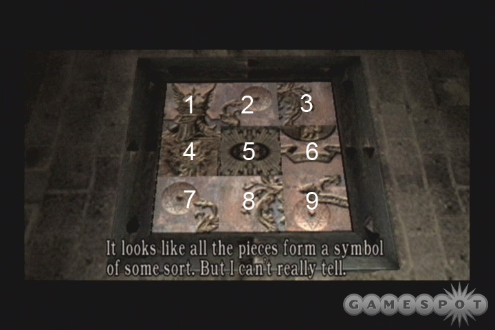 Luckily, this puzzle is always the same when you first encounter it, meaning this solution should always work. Hopefully.