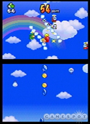 Keeping Baby Mario out of trouble, one cloud at a time.
