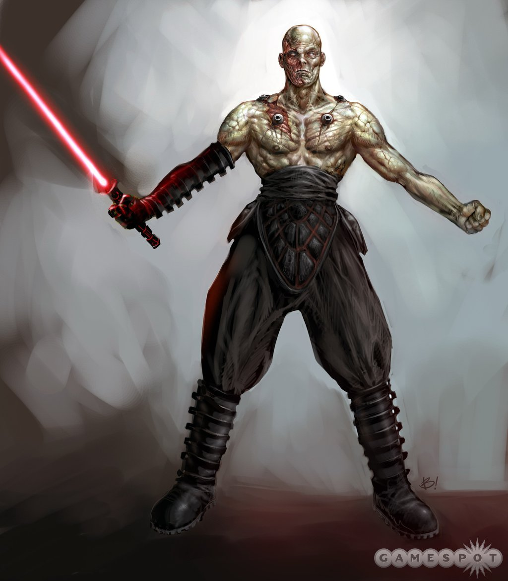 Meet Darth Sion, Sith lord and all-around bad guy.