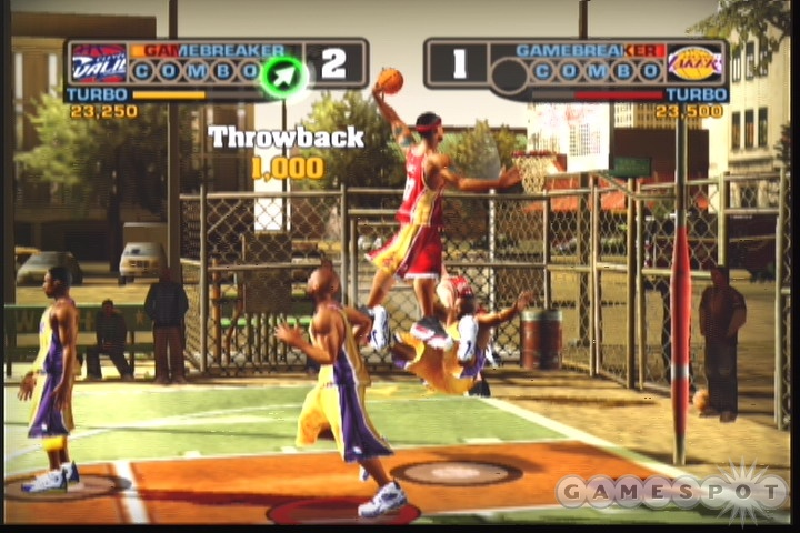NBA Street V3 is about the improvisation of blacktop basketball, not running set plays.