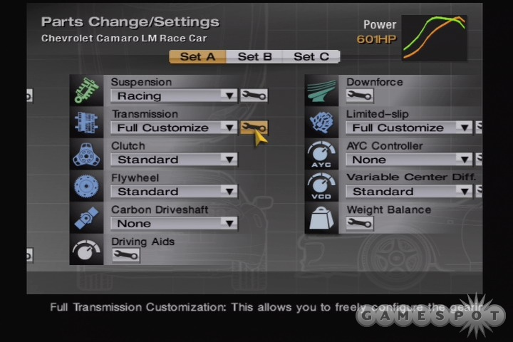Most of GT4's menus have been dramatically improved and reorganized.