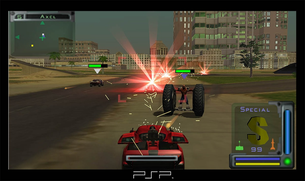 A clean interface and responsive controls let you dive right into the action, which is great when playing against either computer-controlled drivers or other players.