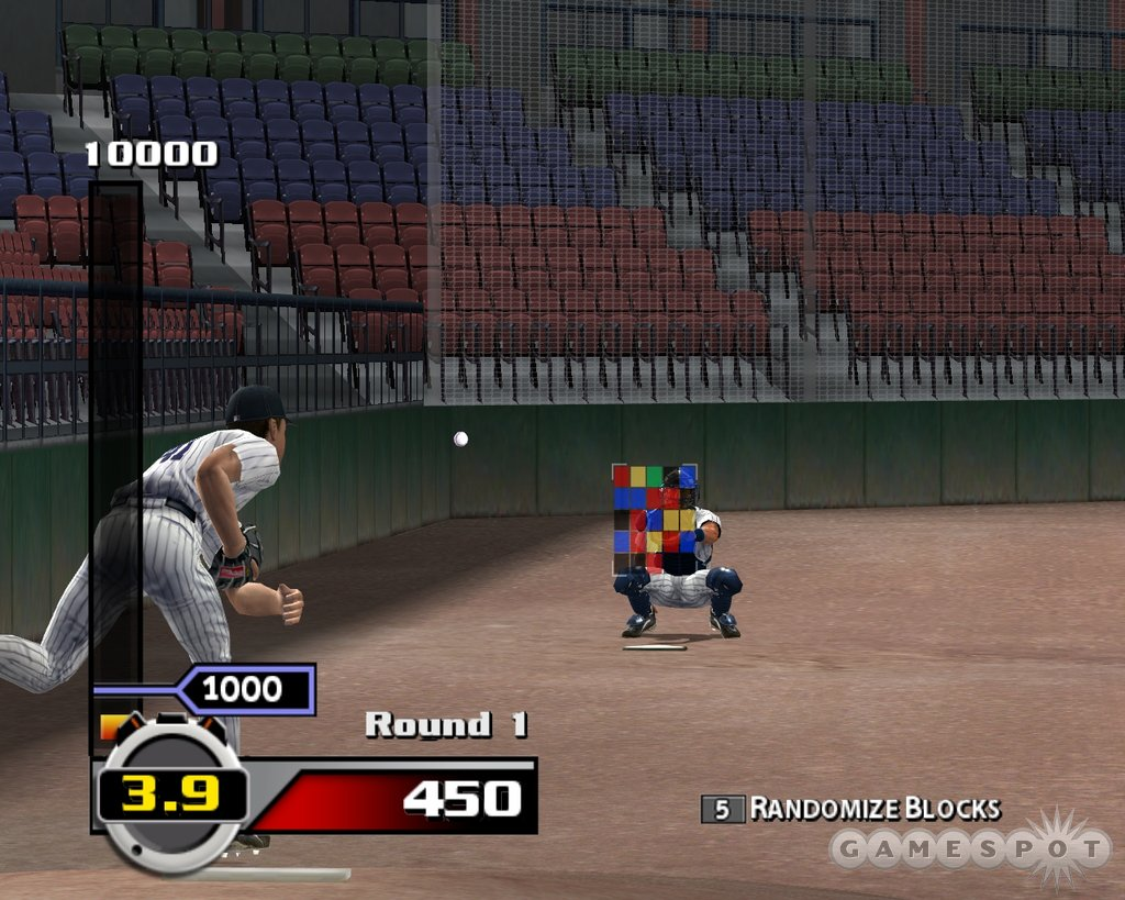 A new minigame mode includes a pitching challenge that plays like a hardball version of Tetris.