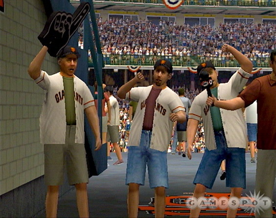 The custom soundtrack features give the Xbox version the edge, but both versions have great crowds and stadium PA systems.