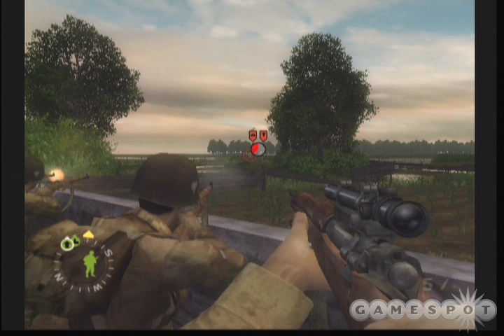 The suppression indicators help point out enemy positions, but they are not available at the highest difficulty setting.