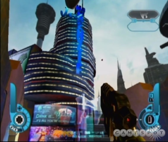Though the visuals are generally simplistic, some of the skylines are pretty cool.
