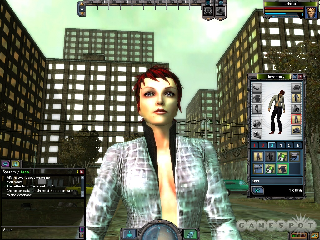 You can create a character who looks like she failed an audition for a Mitsubishi commercial in The Matrix Online.