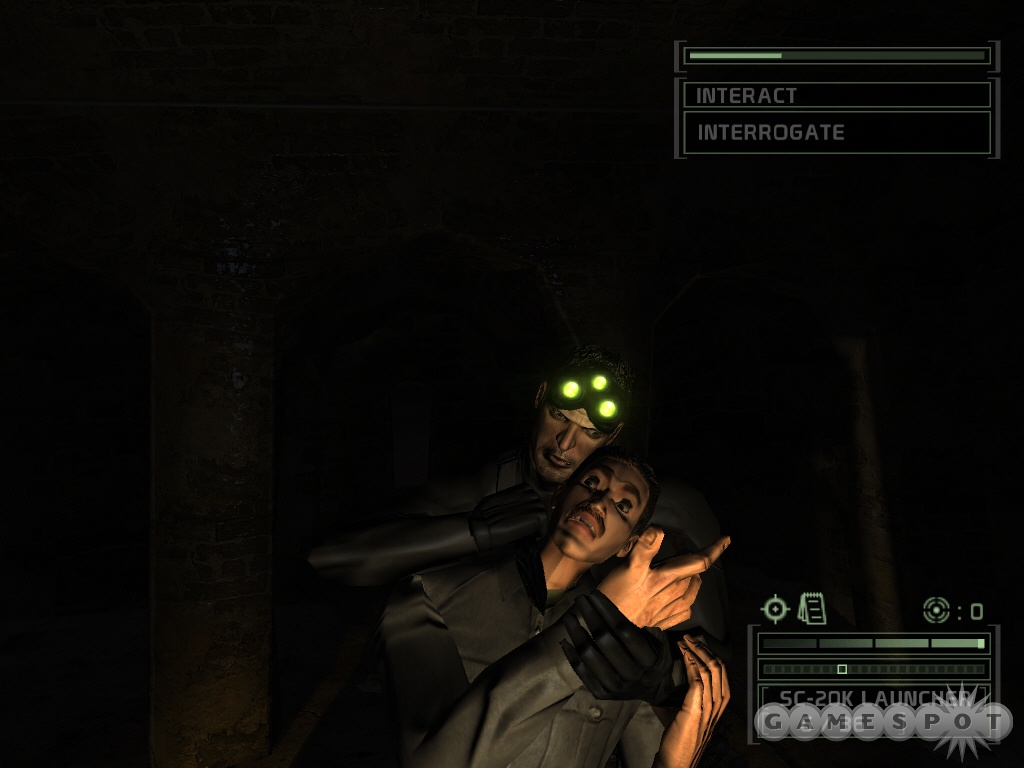Sam Fisher's not playing around in Splinter Cell Chaos Theory.