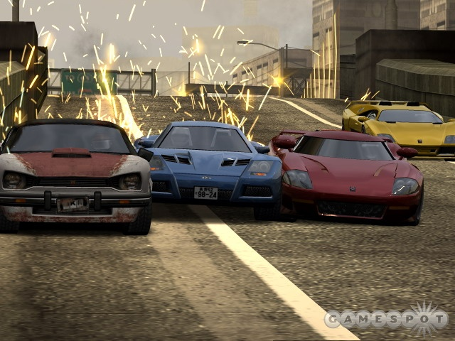 The game's AI-controlled racers are never impossible to beat, but they'll occasionally challenge you.
