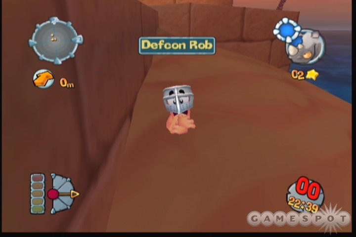 The worms just don't seem to pack quite the same punch as they did in 3D.