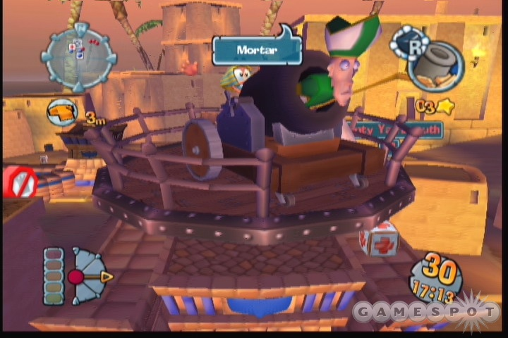 Worms Forts looks almost identical to last year's Worms 3D.