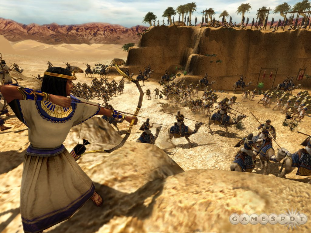 Ancient Egypt is in the game, and you can fight like an Egyptian.