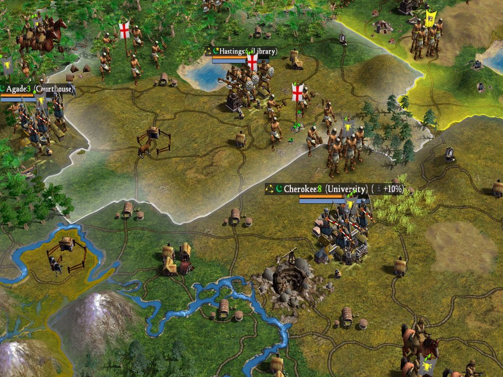 Expansionism is on life support. The focus is on fewer, better cities in Civ IV.