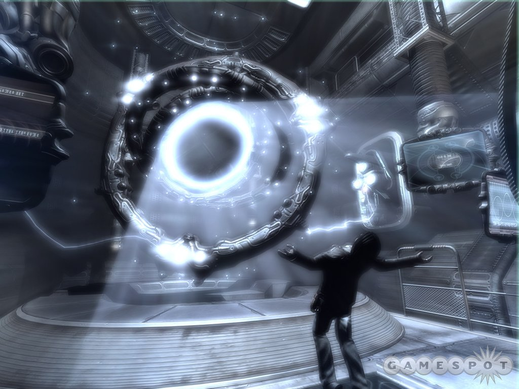 You play an ex-Army Ranger battling mysterious aliens on an even more mysterious ship.