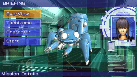 You're either the characters or Tachikoma robots in multiplayer.