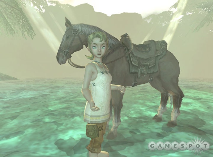 Ilia really doesn't approve of Link jumping over fences on Epona, especially when the horse's leg gets hurt as a result.