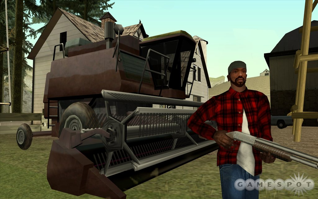 It's San Andreas like you haven't seen before, thanks to the improved graphical look of the PC version.