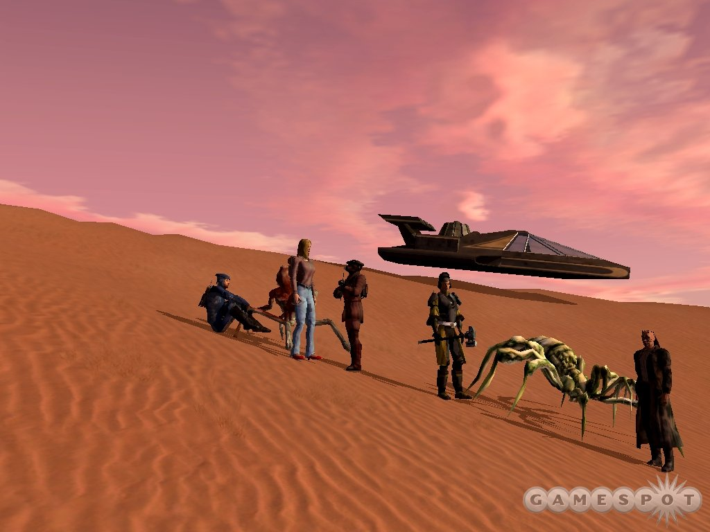 Grouping for missions is actively encouraged in Star Wars Galaxies nowadays.