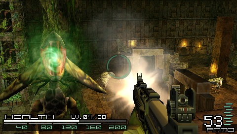 Coded Arms aptly demonstrates that an FPS can work on the PSP--it just isn't a very fun game on its own merits.