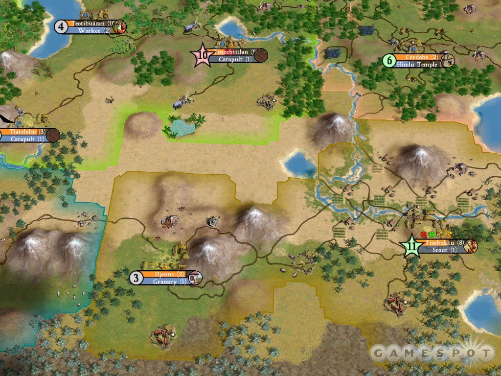 Borders are back in Civ IV. Only this time, borders actually work like borders should.