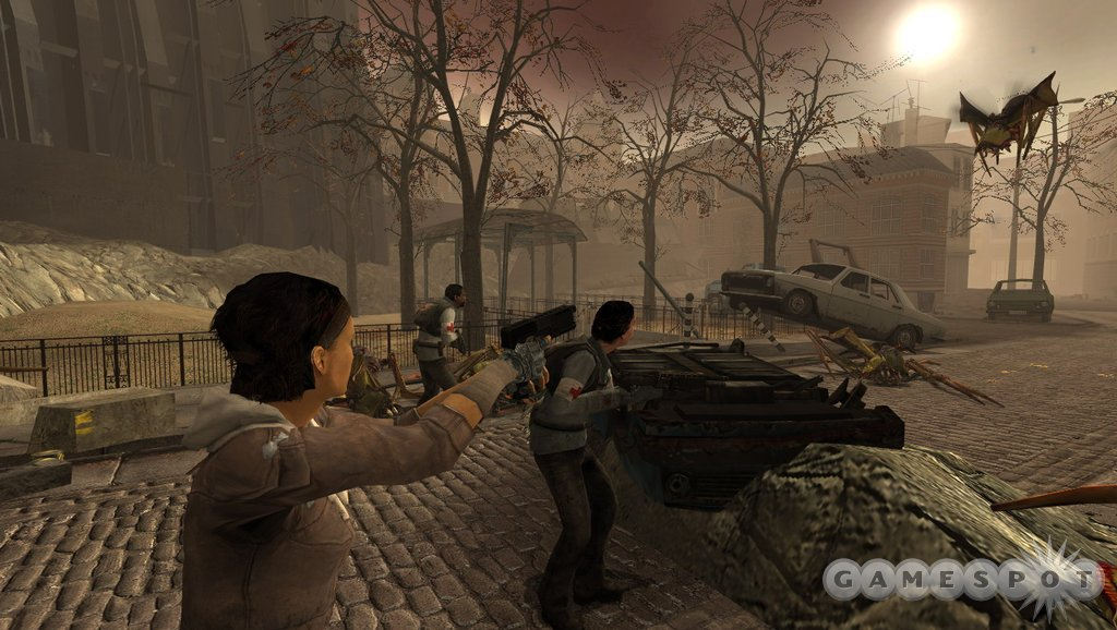 The pitched street battles of Half-Life 2 also return in Aftermath.
