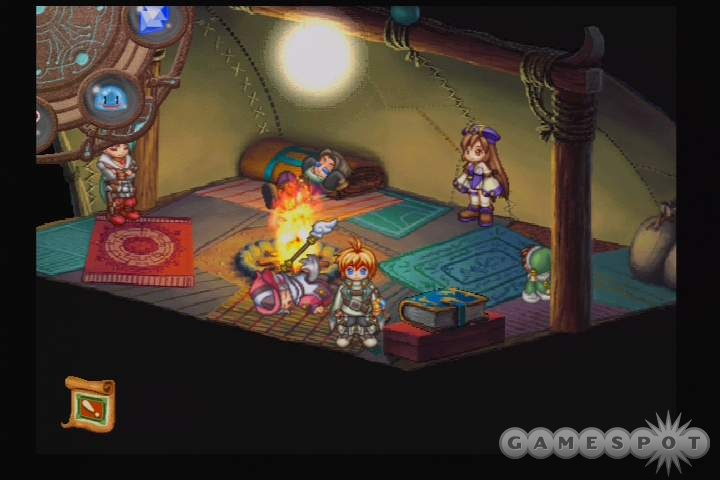 The battle system is instantly familiar to anyone who played any of the 2D Final Fantasy games.