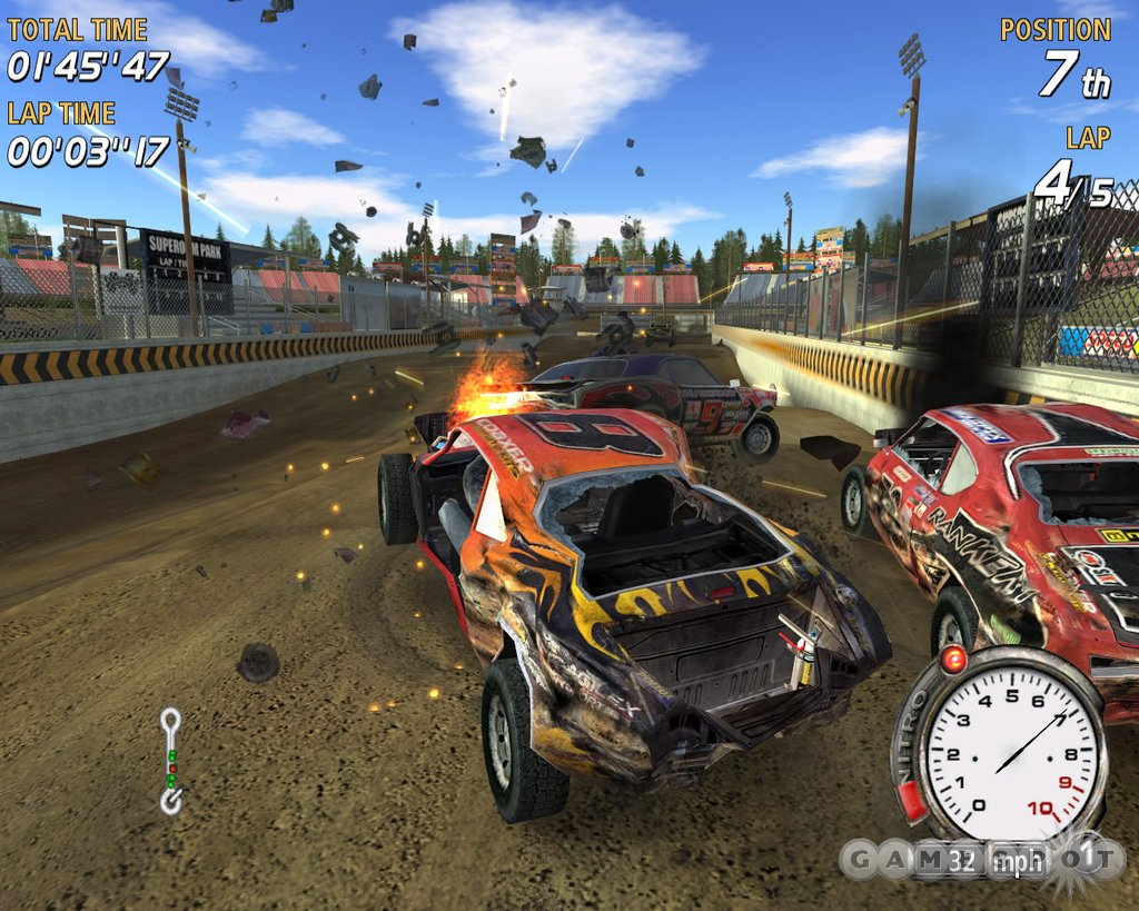 The gameplay can be frustrating, but that frustration is alleviated somewhat by the sheer ridiculousness of the game's wrecks.