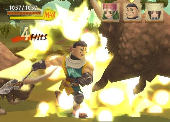 Radiata Stories features a simple, hack-and-slash action combat system.
