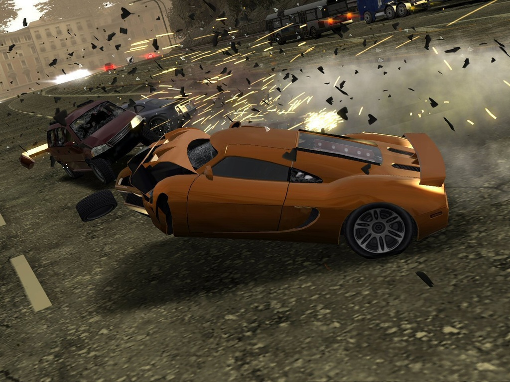 Overall, Burnout Revenge has a slightly darker feel to it.