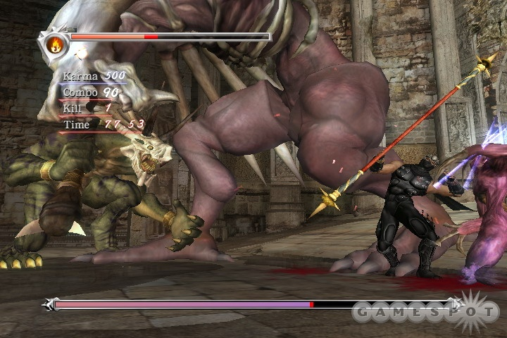Ryu Hayabusa gains a wide variety of excellent moves during the course of the game.