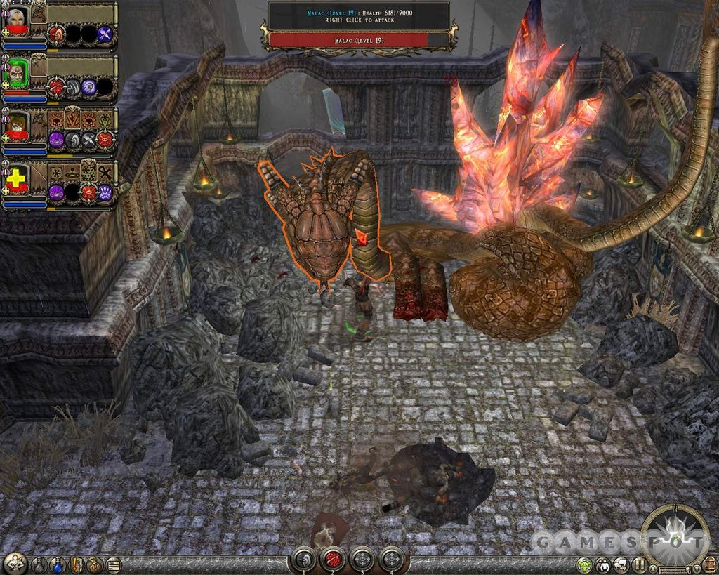 Dungeon Siege II is all about killing hordes of evil monsters and collecting tons of loot.