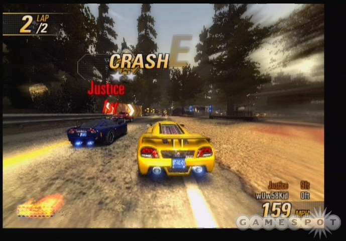 Different cars have different crashbreaker strengths, which is handy in crash mode.