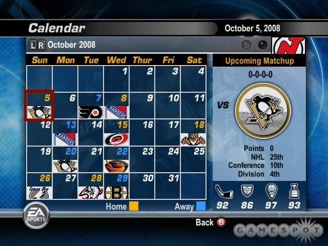 Get used to seeing this schedule, because it's the same one you'll see every year.
