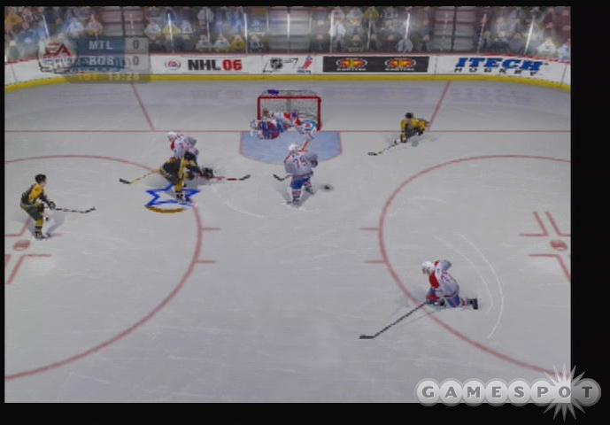 NHL 06 plays an awful lot like NHL 2005--just with less-insane defense and a couple of minor upgrades.