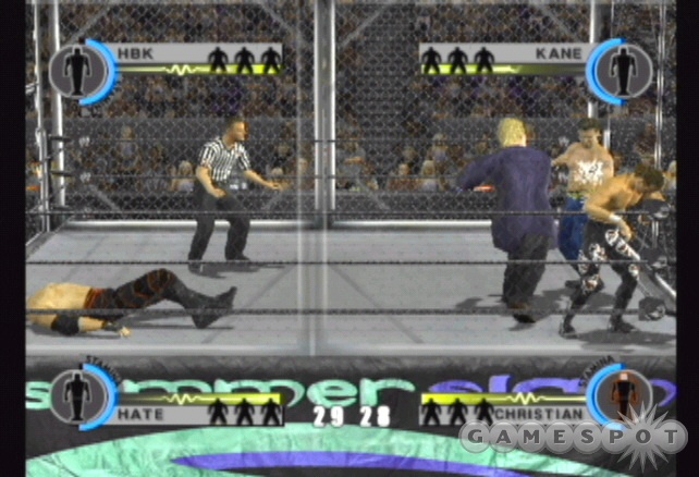 The steel cage four-way is one of the most challenging...or frustrating...matches in the game.