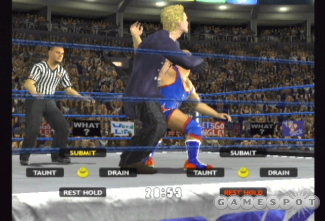 Modify your move set to include more submission holds to battle Kurt Angle in his forte', the submission match.
