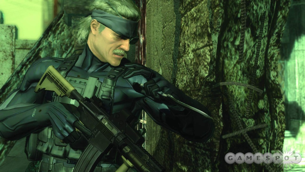 It's like a cross between Sam Fisher and Sean Connery from The Rock. But it's all Snake. Or Big Boss. Or something.