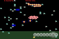 Millipede adds more enemies and helpful DDT bombs to the Centipede formula.