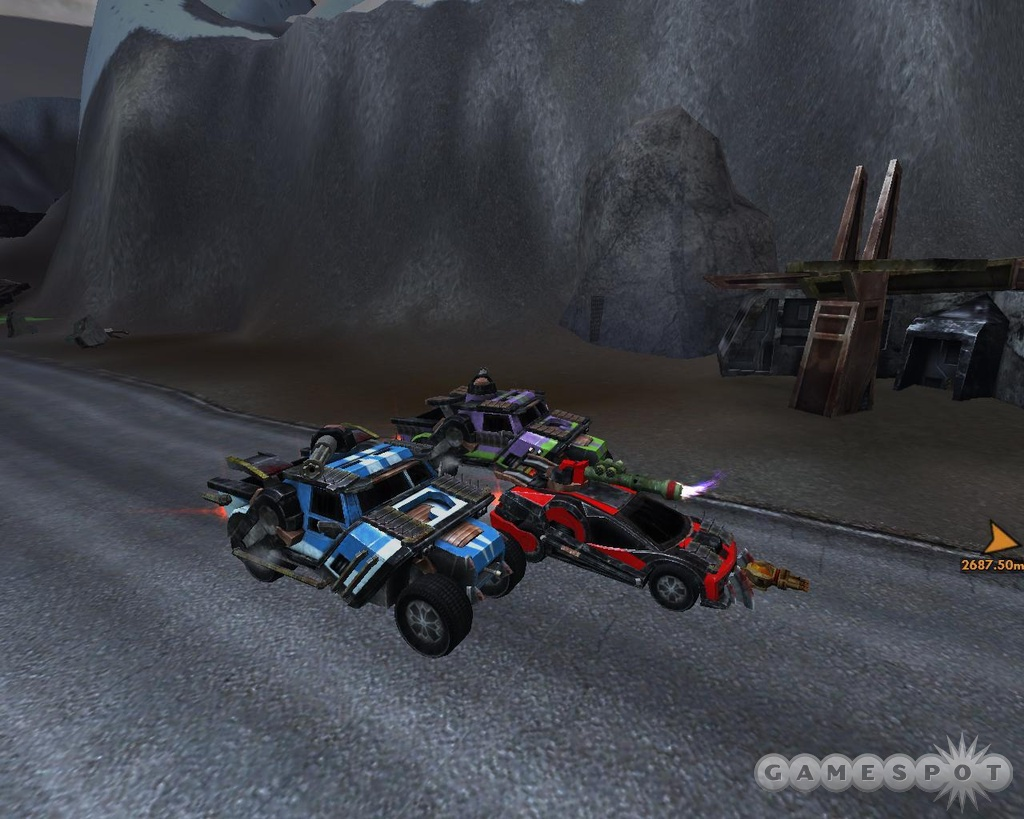 Auto Assault is an online role-playing game all about road rage.
