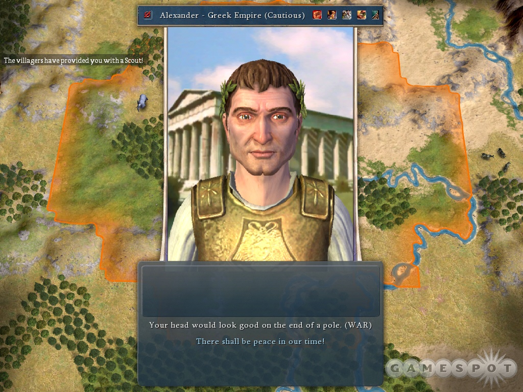 Alexander leads the Greeks. Just don't let him become great.