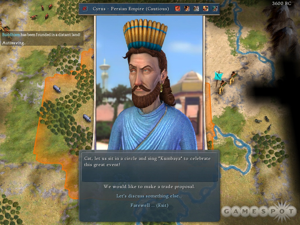 Cyrus leads the Persians, and he's a fairly expansive and organized guy.