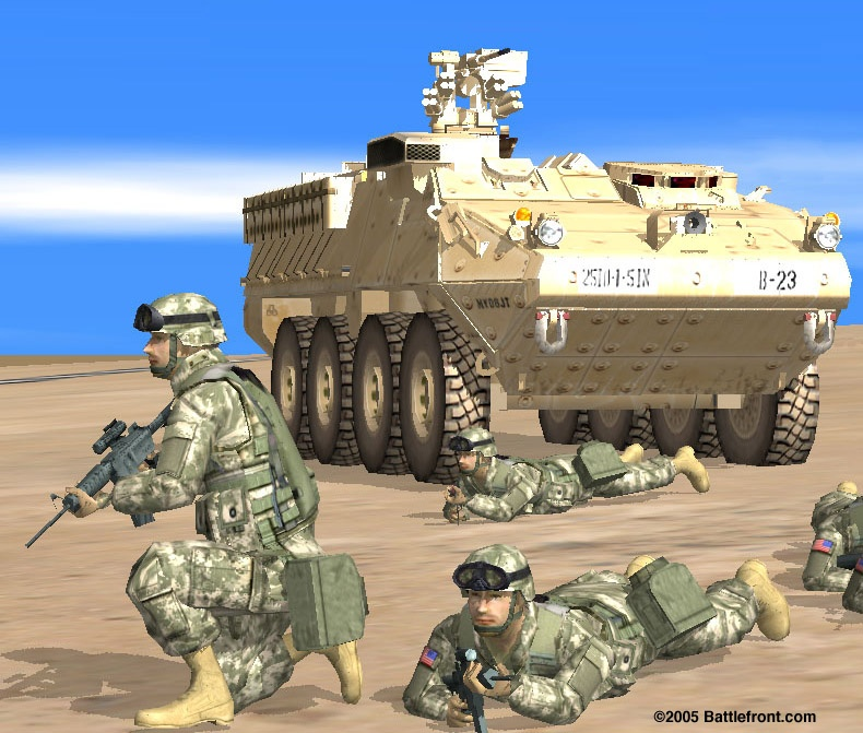 You'll have a mix of infantry and vehicles at your disposal.