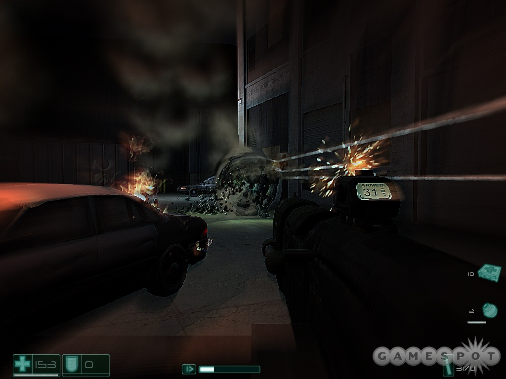 Grenades and explosions have a cool way of warping space, as you can see the shock of the explosion head outwards.