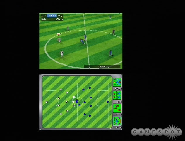 FIFA 06 makes intelligent use of the DS's dual screens.